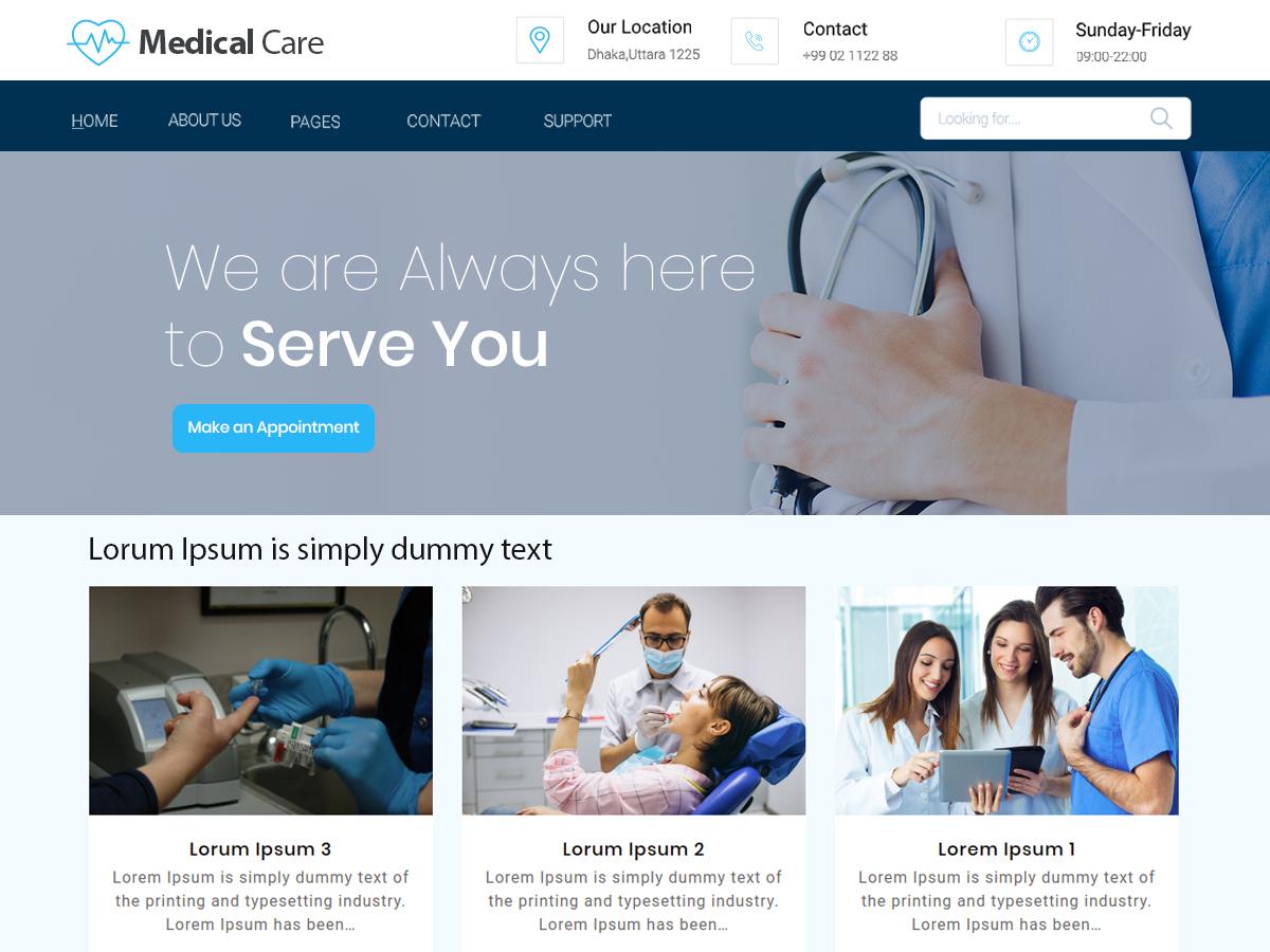 Free Medical WordPress theme