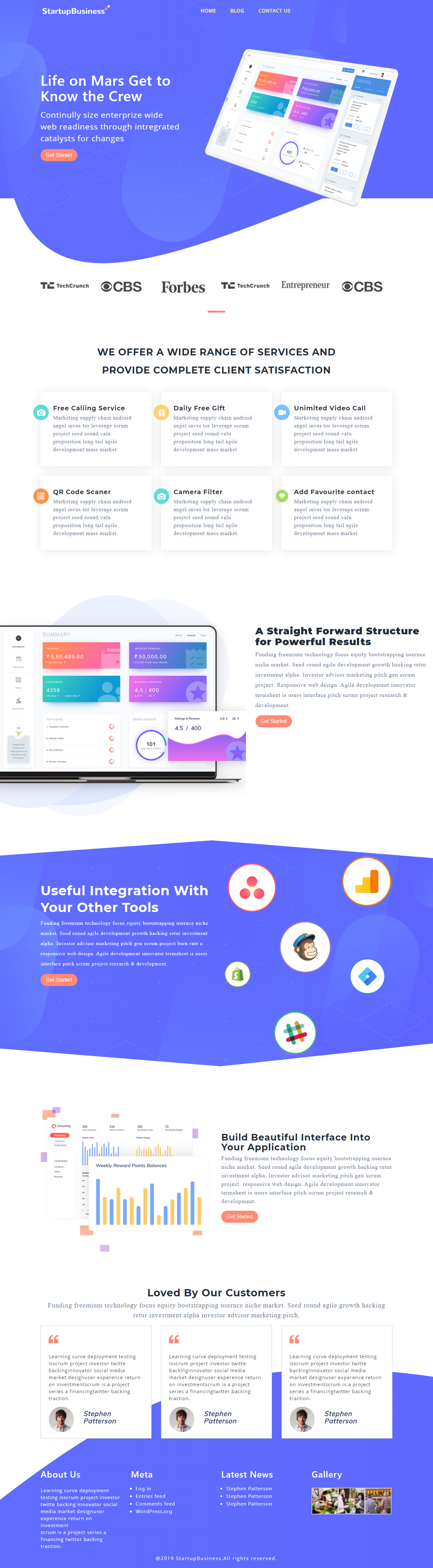 getchaft business wordpress theme