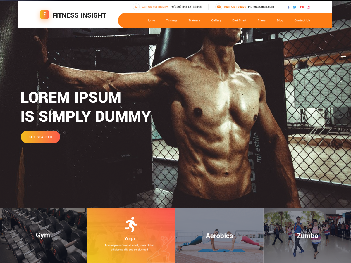 Free Fitness WordPress theme