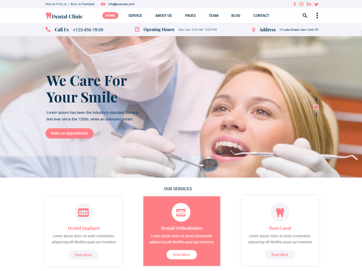 free-dental-wordpress-theme