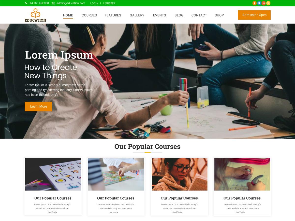 free-minimal-education-wordpress-theme