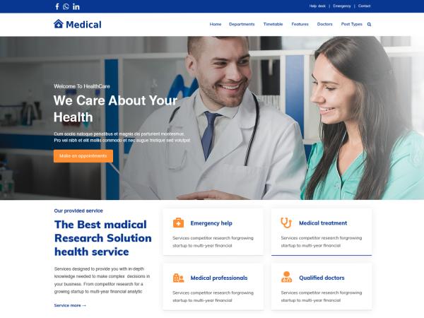 free-medical-clinic-wordpress-theme