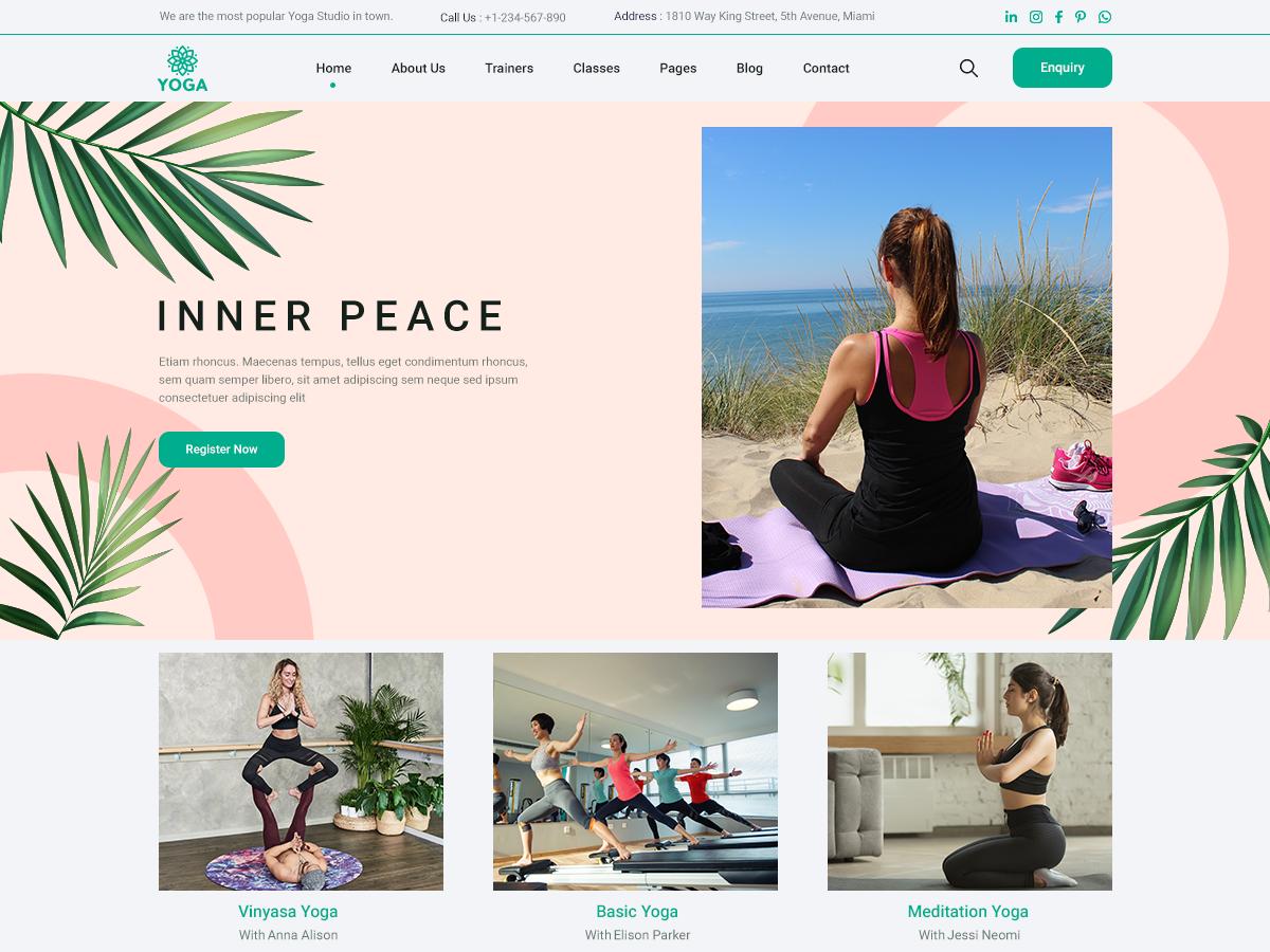 free-yoga-wordpress-theme