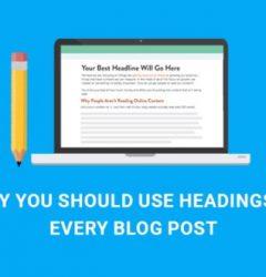 headings in blog posts