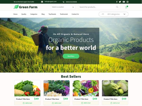 Free Green Farm WordPress Theme