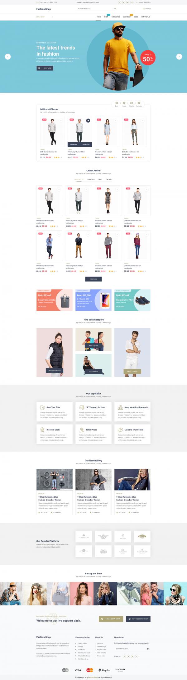 Clothing Store WordPress Theme