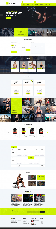 Personal Gym Trainer WordPress Theme